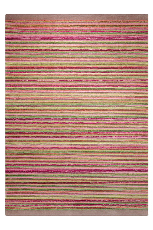 Tapis taupe en acrylique Samba Stripes Esprit Home