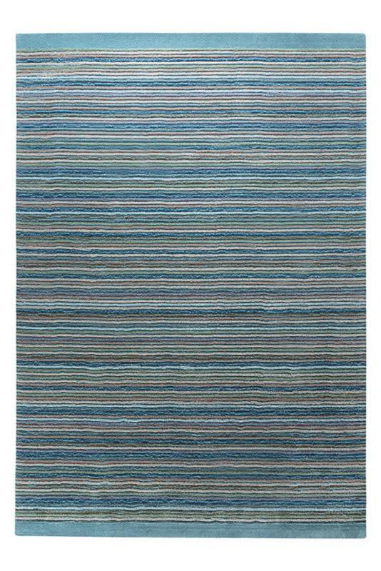 Tapis bleu en acrylique Samba Stripes Esprit Home