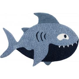 Tapis enfant bleu Shark