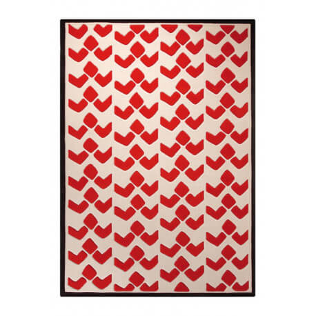 Tapis design aux velours fins orange Bauhaus Esprit Home