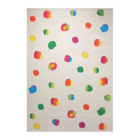 Tapis blanc tissé en polypropylène Funny Dots Esprit Home