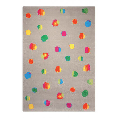 Tapis taupe tissé en polypropylène Funny Dots Esprit Home