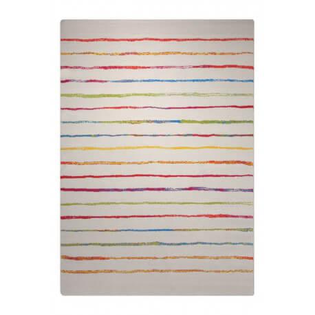 Tapis à courtes mèches blanc pour chambre Joyful Stripes Esprit Home