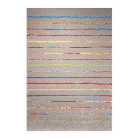 Tapis à courtes mèches taupe pour chambre Joyful Stripes Esprit Home