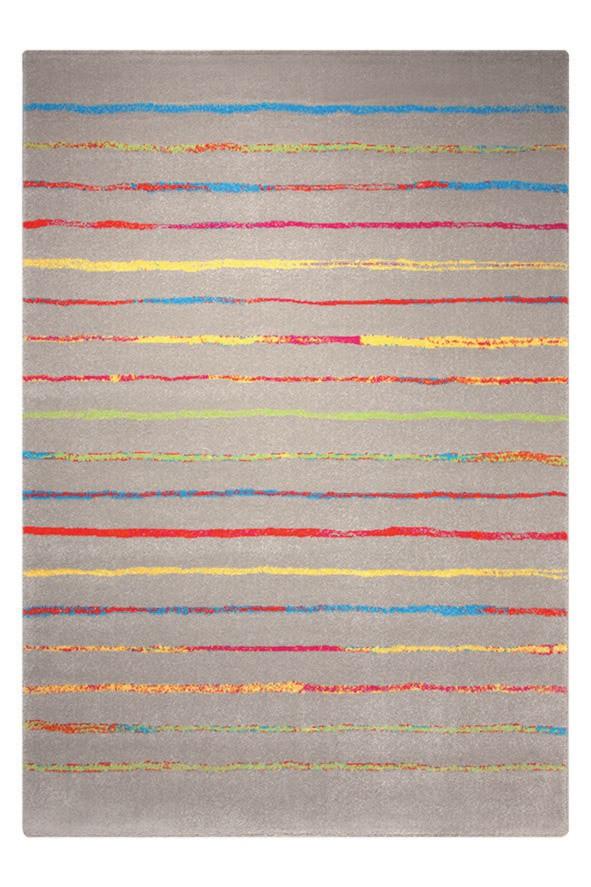 Tapis à courtes mèches taupe Joyful Stripes Esprit Home