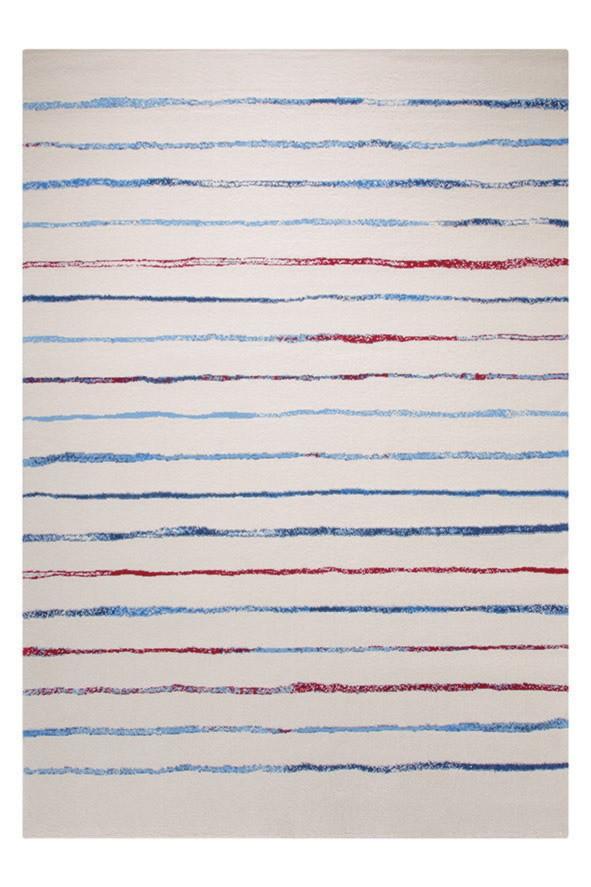 Tapis à courtes mèches coloré pour chambre Joyful Stripes Esprit Home