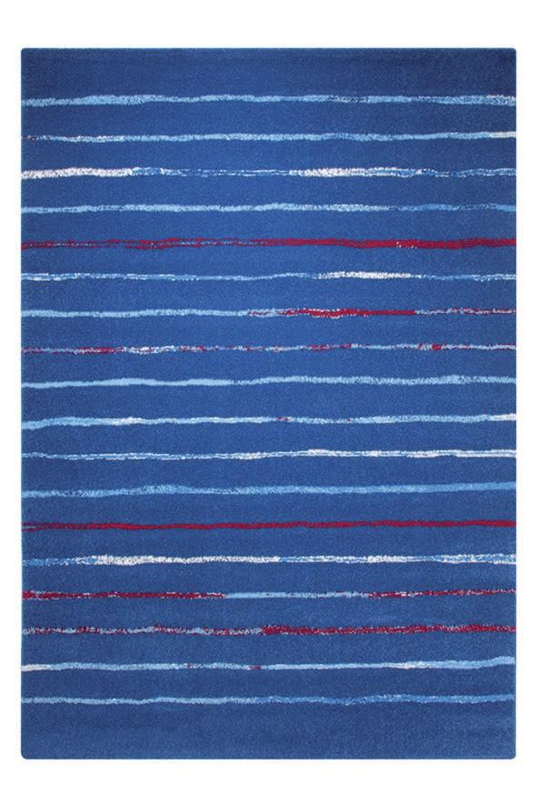 Tapis à courtes mèches bleu pour chambre Joyful Stripes Esprit Home