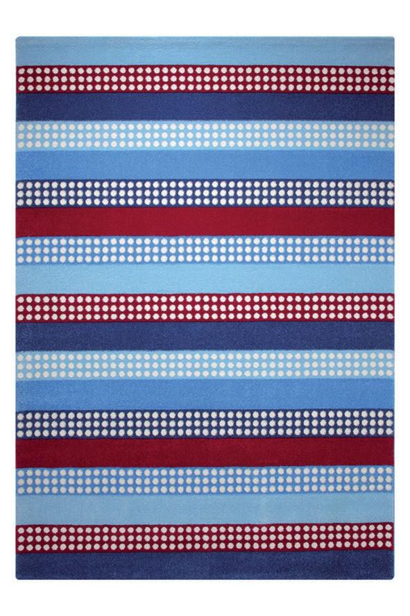 Tapis pour chambre d'enfant bleu Space Stripes Esprit Home