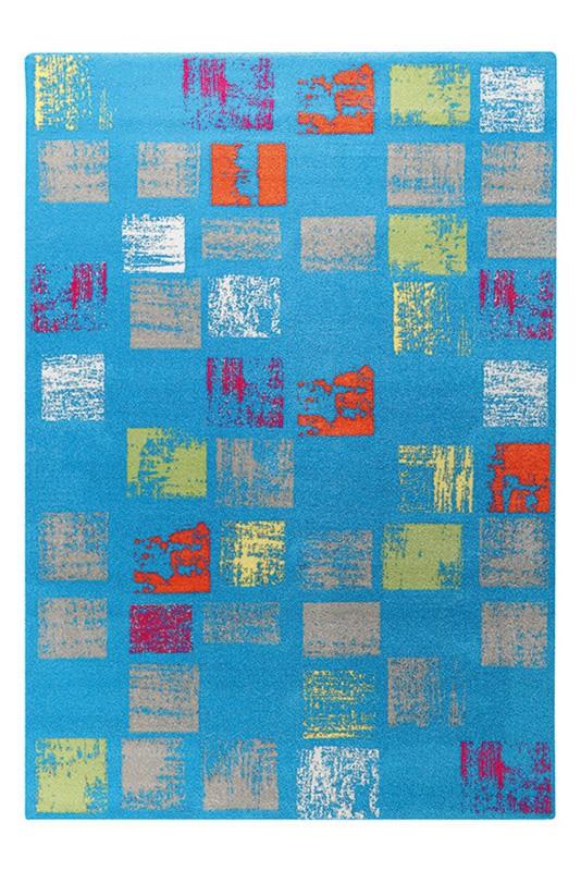 Tapis Esprit Home en polypropylène design bleu Cuadros