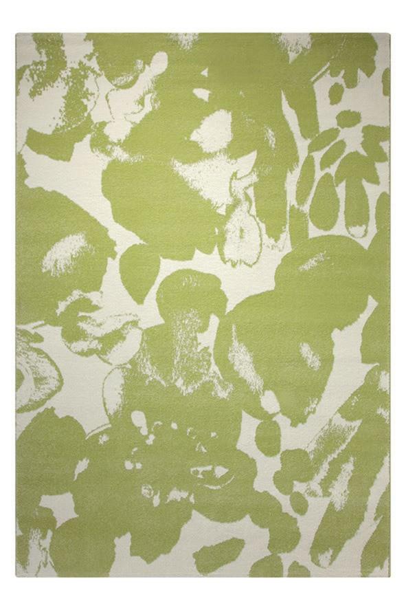 Tapis moderne en polypropylène vert Energize Esprit Home