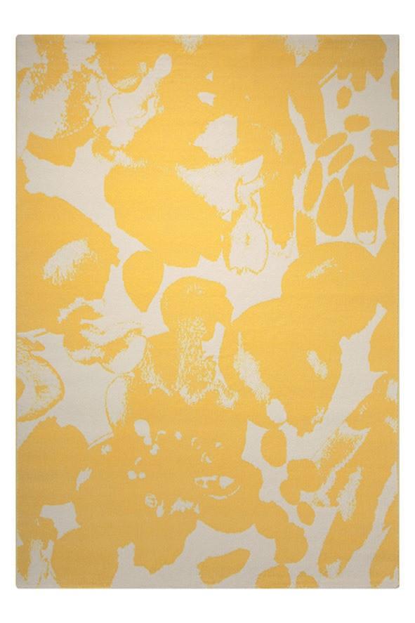 Tapis moderne en polypropylène jaune Energize Esprit Home
