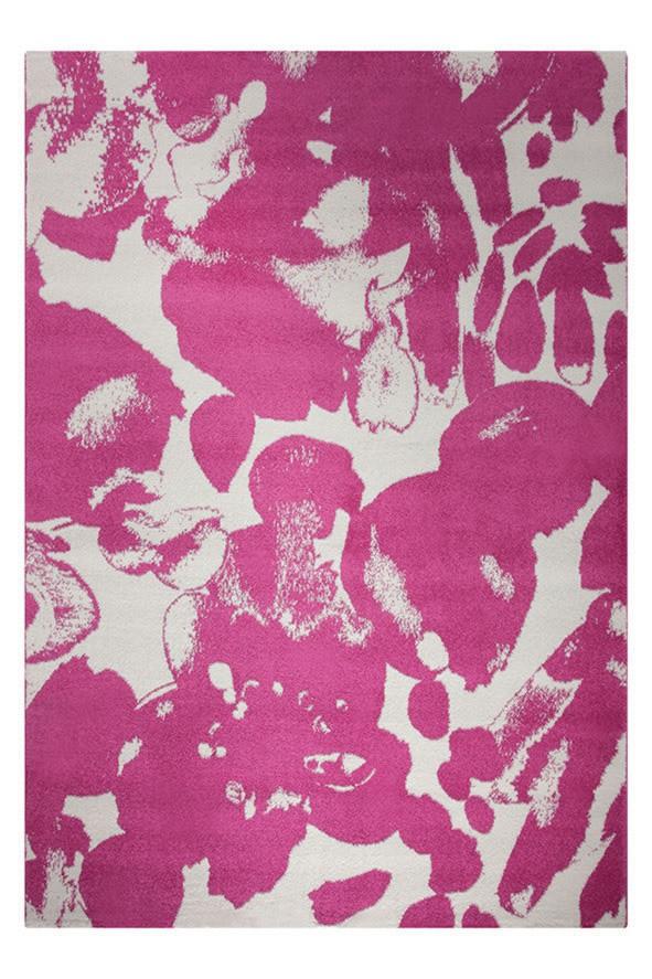 Tapis moderne en polypropylène rose Energize Esprit Home