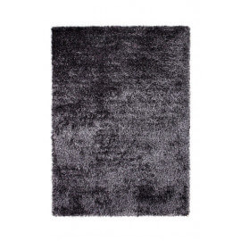Tapis shaggy en polyester argenté Cosy Glamour Esprit Home