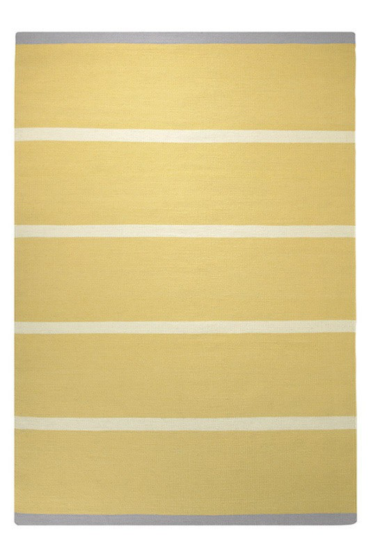 Tapis plat tissé main du Népal jaune Simple Stripe Esprit Home