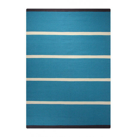 Tapis plat tissé main du Népal bleu Simple Stripe Esprit Home
