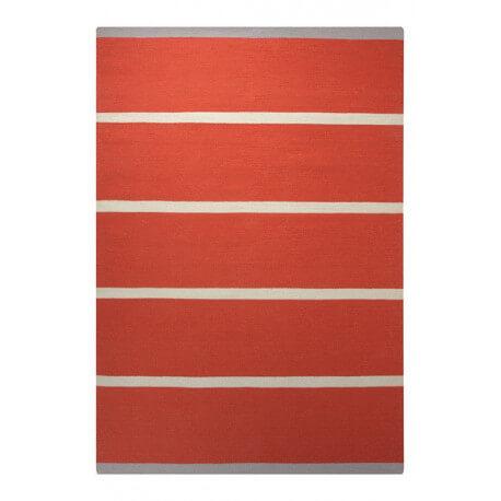 Tapis plat tissé main du Népal orange Simple Stripe Esprit Home