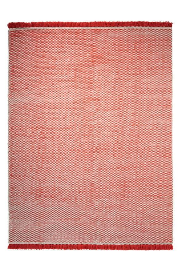 Tapis du Népal en laine plat tissé main orange Loom Esprit Home