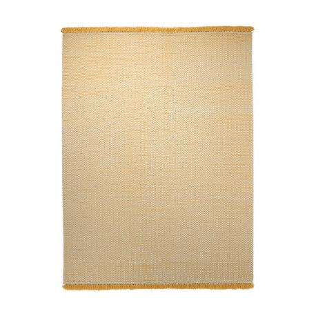 Tapis du Népal en laine plat tissé main jaune Loom Esprit Home