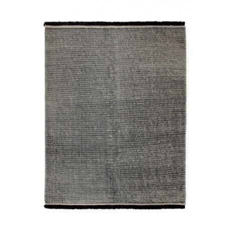 Tapis du Népal en laine plat tissé main noir Loom Esprit Home