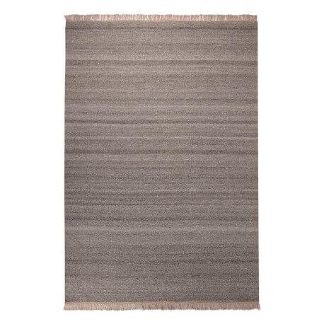 Tapis en laine et chanvre pour salon sable Blurred Esprit Home
