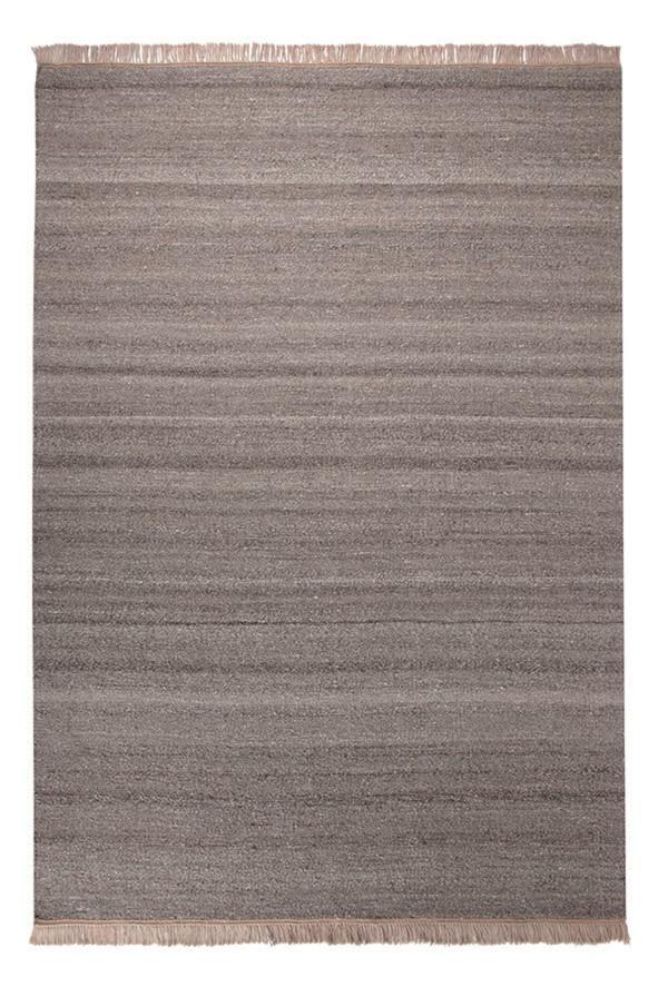 Tapis en laine et chanvre sable Blurred Esprit Home