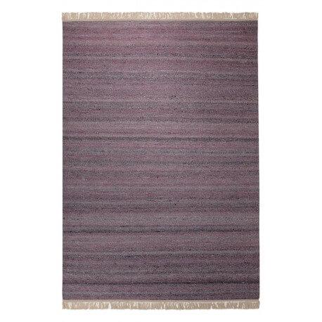 Tapis en laine et chanvre pour salon aubergine Blurred Esprit Home