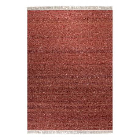 Tapis en laine et chanvre pour salon rouge Blurred Esprit Home