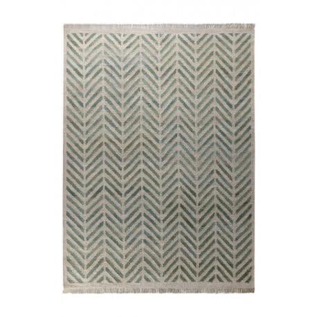 tapis plat tiss main en laine et chanvre vert ethno esprit home. Black Bedroom Furniture Sets. Home Design Ideas