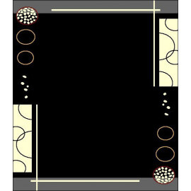 Tapis contemporain de salon noir Floky