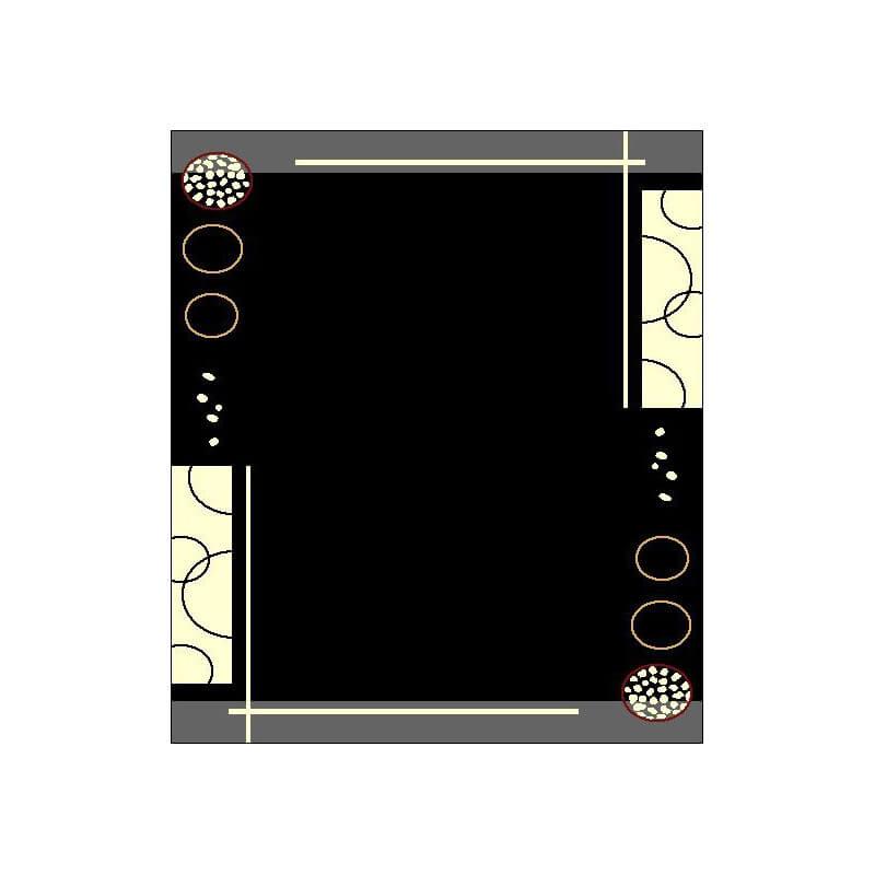 tapis contemporain de salon noir floky. Black Bedroom Furniture Sets. Home Design Ideas