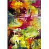 Tapis multicolore rectangulaire d'intérieur Belo Horizonte