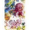 Tapis crème à motifs fleuris et coloré Teresina