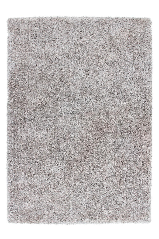Tapis fait main shaggy argenté et blanc Style par Lalee