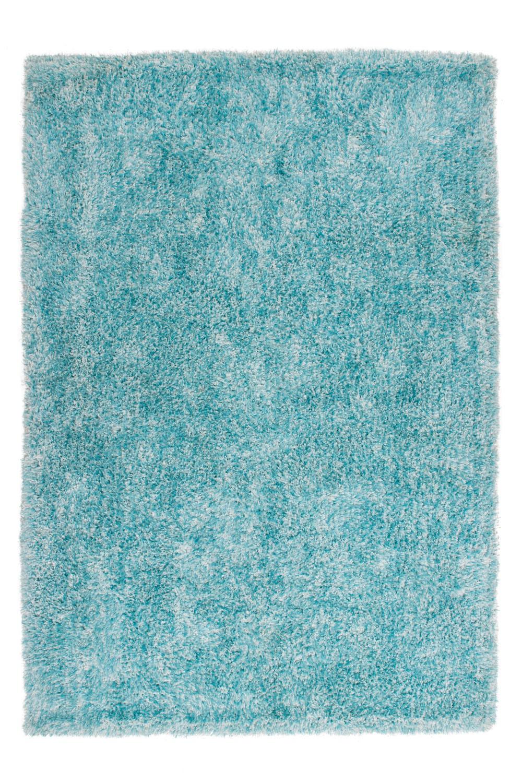 Tapis fait main shaggy turquoise Style par Lalee