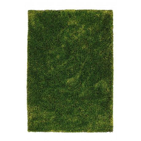 Tapis fait main shaggy vert Style par Lalee