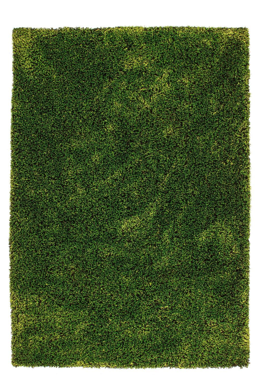 Tapis fait main shaggy vert et noir Style par Lalee