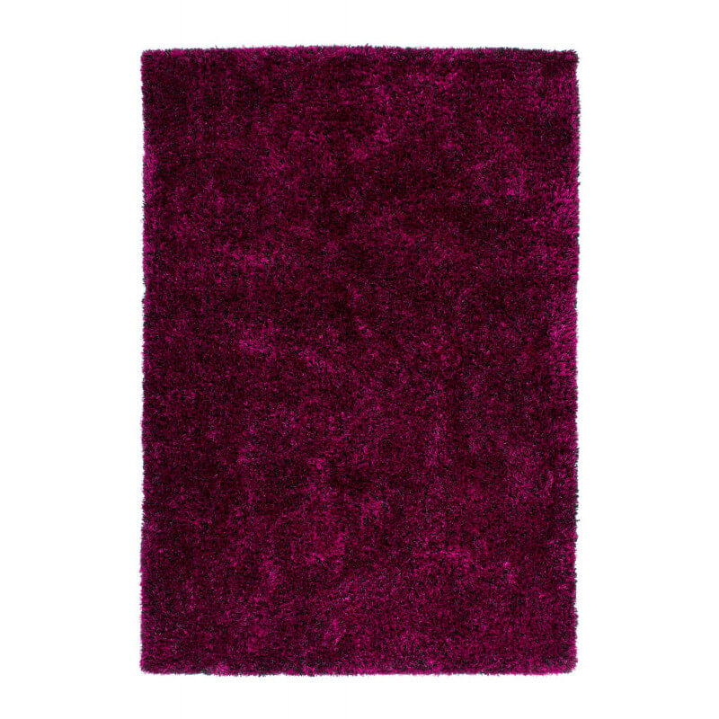 tapis fait main shaggy violet et noir style par lalee. Black Bedroom Furniture Sets. Home Design Ideas