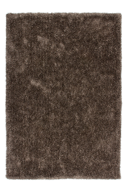 Tapis brillant en polyester Style II platine par Lalee