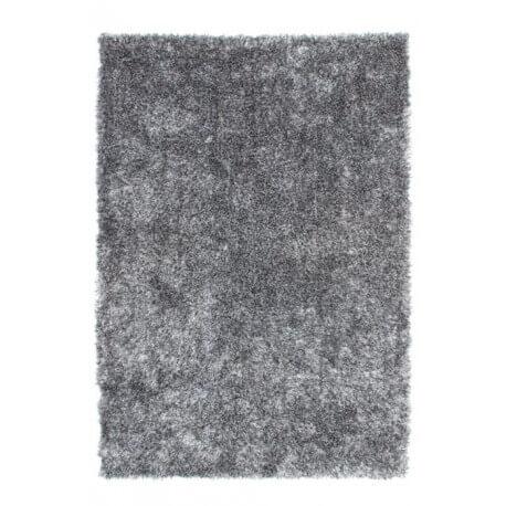 Tapis de salon doux en polyester grix et blanc Tango par Lalee