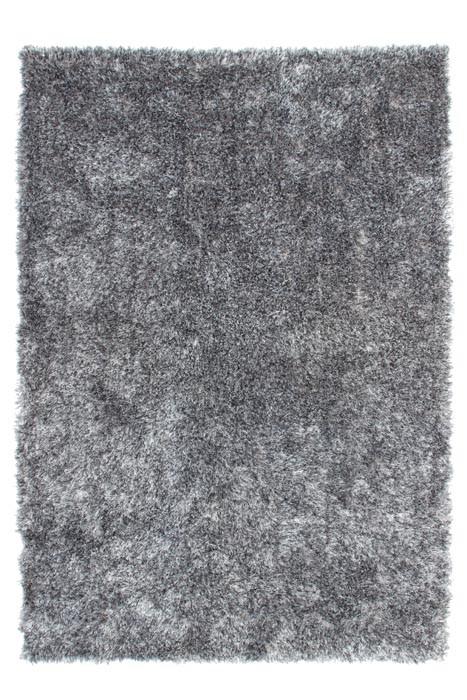 Tapis doux en polyester gris et blanc Tango par Lalee