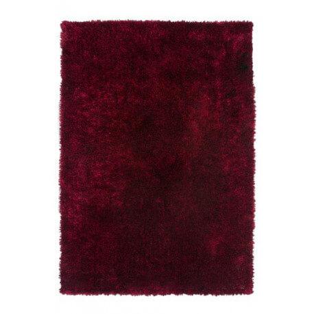 Tapis à longues mèches brillant rouge Tango II par Lalee