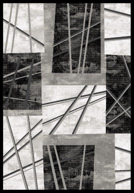 Tapis de salon brillant argenté Palas VIII par Lalee