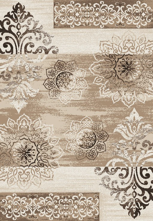 Tapis en polypropylène vintage beige Neo VI par Lalee