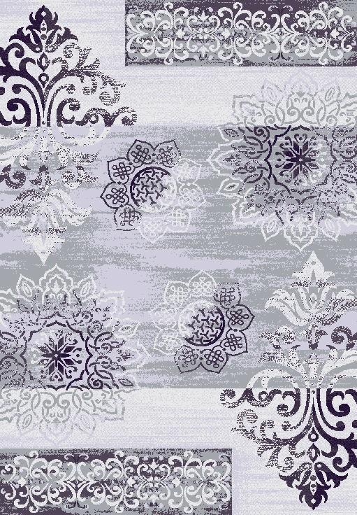 Tapis en polypropylène vintage violet Neo VI par Lalee