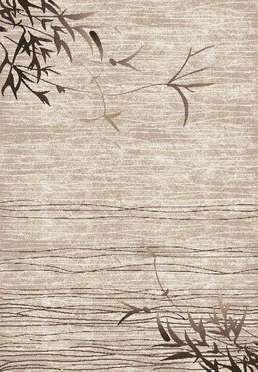 Tapis de salon beige à courtes mèches Star V par Lalee