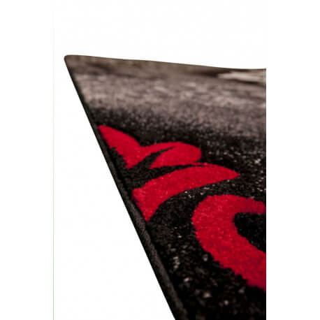 tapis vintage en polypropyl ne gris et rouge rusty. Black Bedroom Furniture Sets. Home Design Ideas