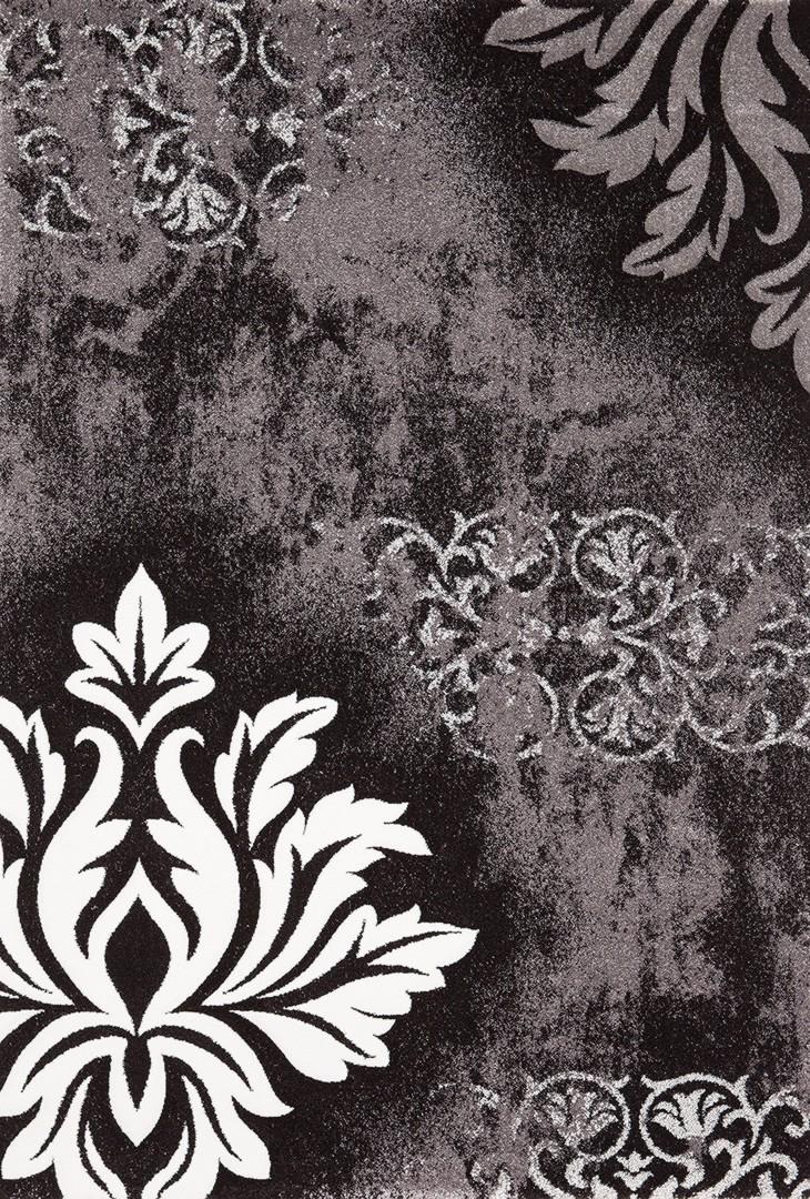 Tapis vintage en polypropylène gris Rusty