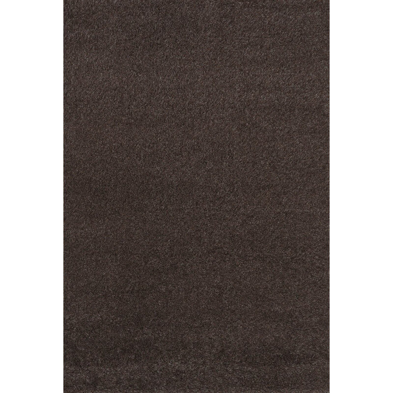 tapis shaggy uni marron en polypropyl ne orlando. Black Bedroom Furniture Sets. Home Design Ideas