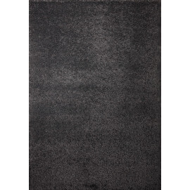 Tapis shaggy uni gris en polypropylène Orlando