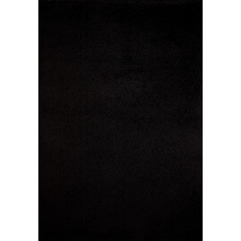 Tapis shaggy uni noir en polypropylène Orlando